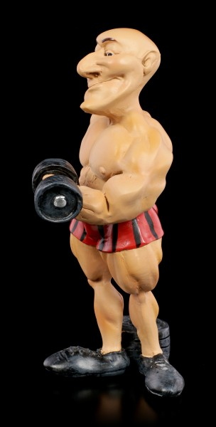 Funny Sports Figurine - Bodybuilder with Dumb Bell