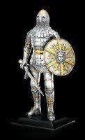 Ritter Figur mit Schwert und Rundschild