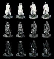 Kreuzritter Figuren auf Pferd - 12er Set