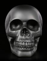 Totenkopf - schwarz matt