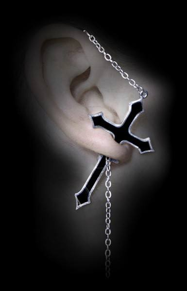 Alchemy Gothic Ohrring - Impalare Cross
