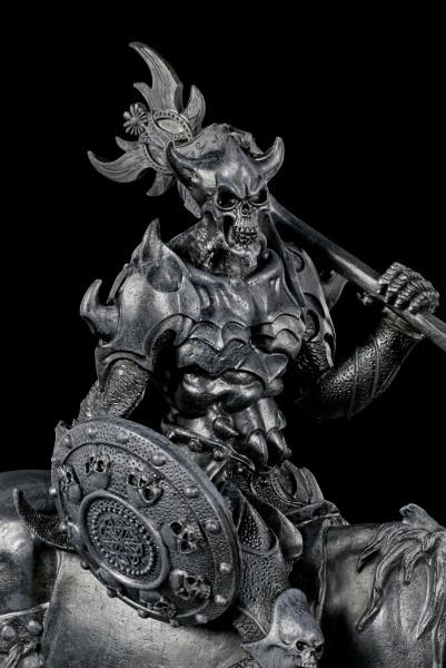 Dämonen Figur - Malphas auf Pferd - schwarz