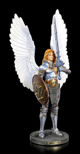 Archangel Michael Figurine with Sword and Shield
