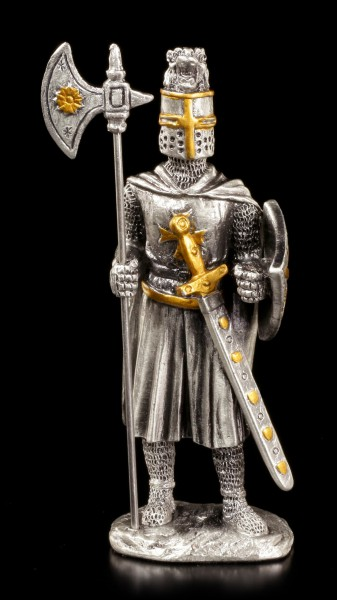 Pewter Knight Figurine - Maltese with Halberd