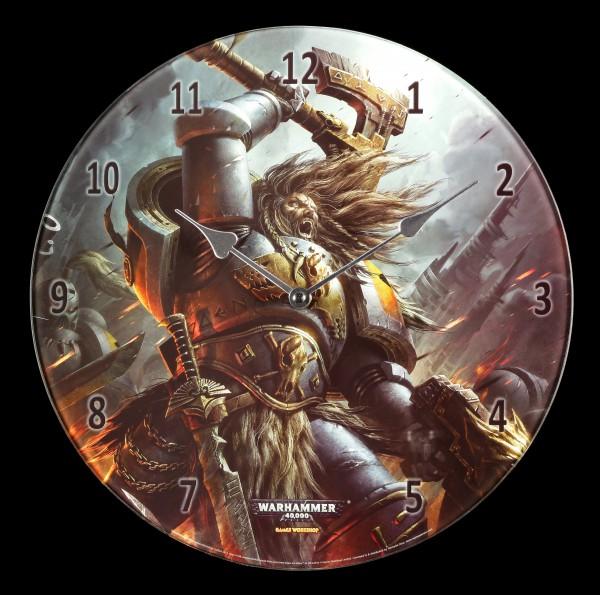 Glas Wanduhr Warhammer - Space Wolves