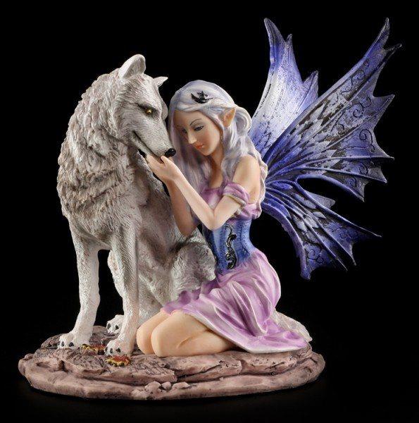 Elfen Figur - Tandra mit Wolf