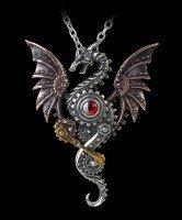 Alchemy Steampunk Drachen Halskette - Blast Furnace Behemoth