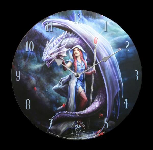 Wanduhr mit Drache - Dragon Mage