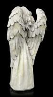 Engel Gartenfigur mit Kreuz im Arm