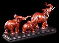 Elefanten Figuren - Mutter und Vater mit Kind