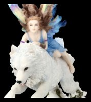 Schmetterlings-Elfe reitet auf Wolf - Free Spirit