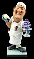 Funny Job Figurine - Confectioner with Cake