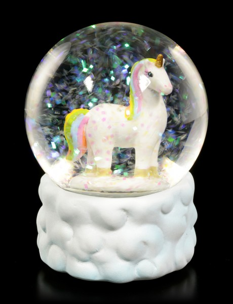 Snow Globe - Rainbow Unicorn