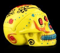 Yellow Skull Ashtray - Day Of The Dead
