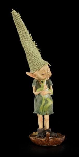 Pixie Kobold Figur - Froschkuscheln