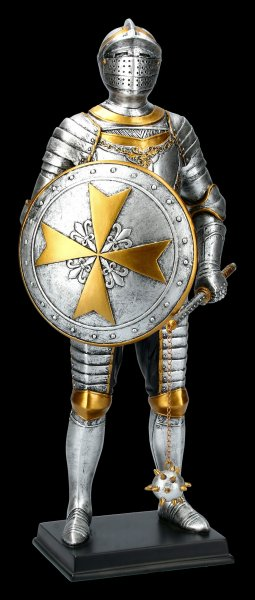 Knight Figurine - Maltese with Spike Mace