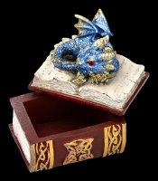 Drachen Schatulle - Bedtime Stories - blau