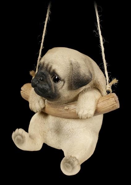 Hängende Hunde Figur - Mops Welpe