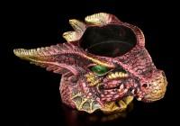 Teelichthalter - Kleiner roter Drachenkopf