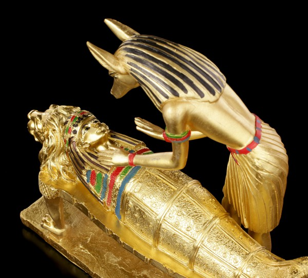 Anubis Figurine Mummification - gold colored