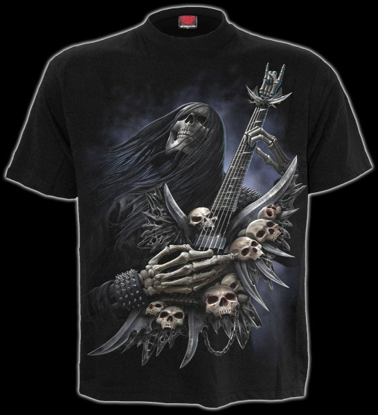 T-Shirt - Heavy Metal Skelett - Rock On