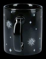 Schwarze Keramik Tasse - Triple Moon