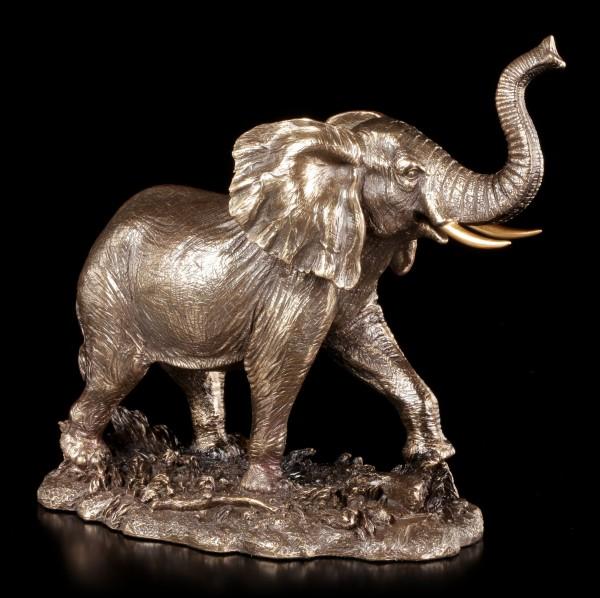 Elefanten Figur - Laufend mit Rüssel nach oben
