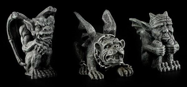 Mini Gargoyle Figuren - 3er Set