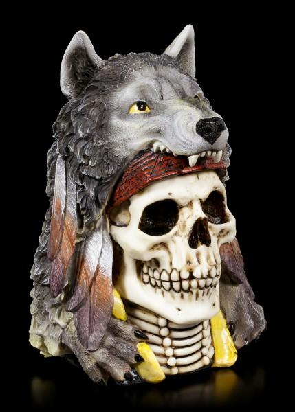 Skull Medicine Man - Wolf Spirit