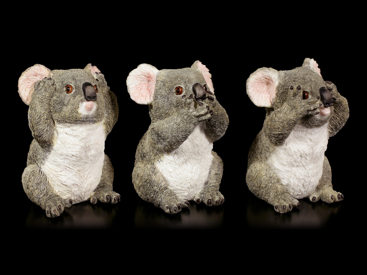 Koala Figurines Set of 3 - No Evil
