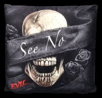 Spiral Gothic Cushion - See No Evil - Set of 3