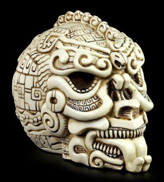 Totenkopf - Azteken Schädel - Weiß