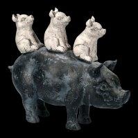 Ferkel auf Schwein Figur