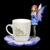 Elfen Figur mit Tasse - Blue Fairy Mira