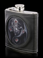 Hip Flask with Dragon - Gothic Guardian 3D