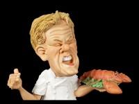 Funny Job Figur - Küchenchef mit Hummer