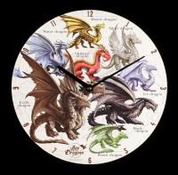 Wanduhr - Age of Dragons - Dragons of the World