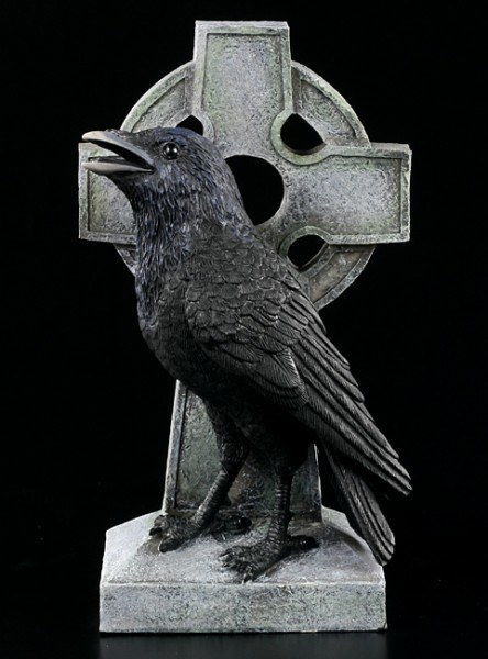 Celtic Cross with Raven