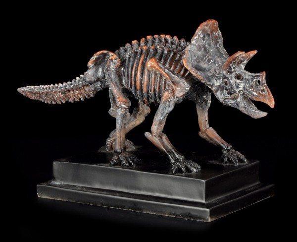 Dinosaurier Figur - Triceratops auf Sockel