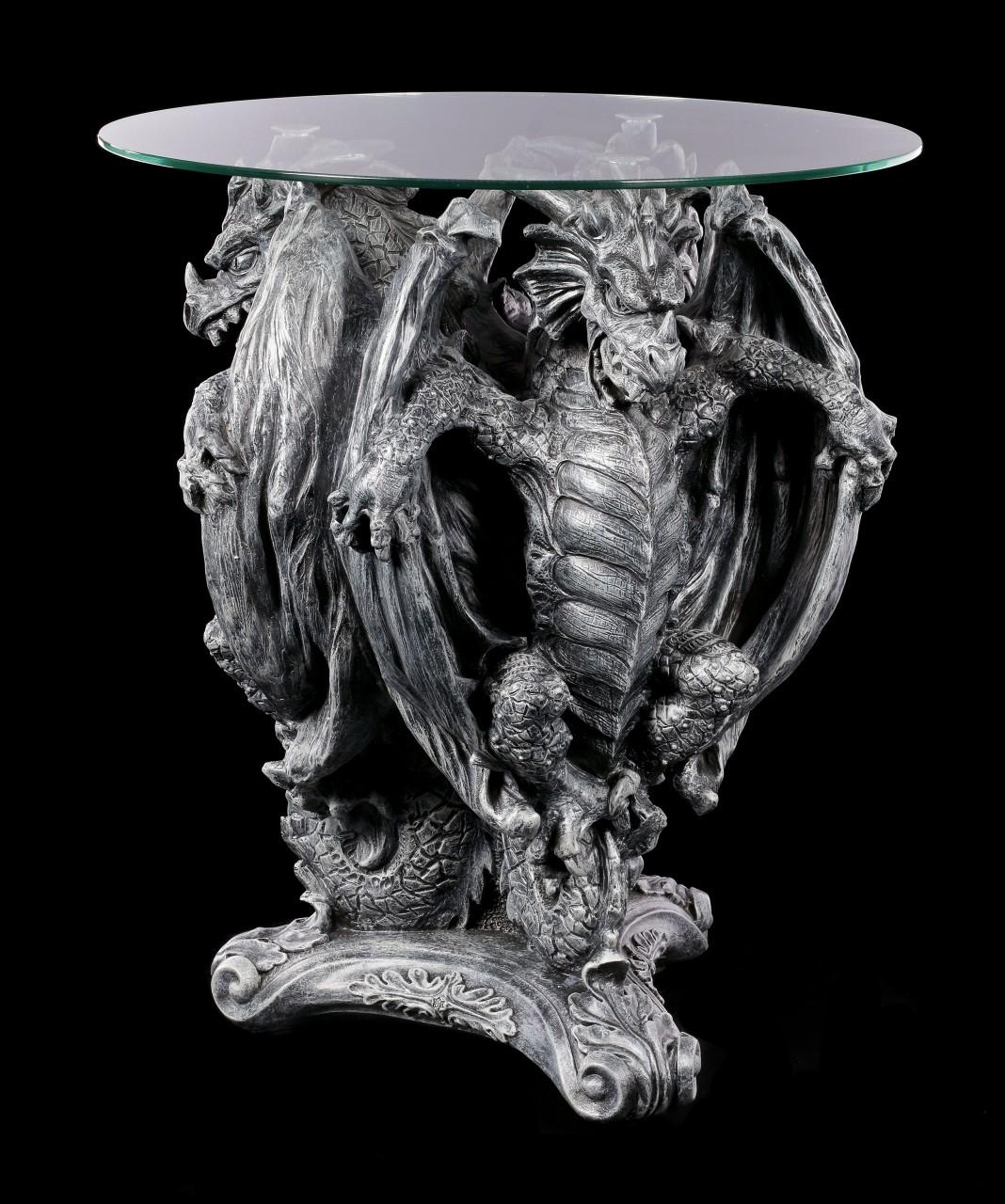 Drachen Tisch mit Glasplatte - Three From Hell