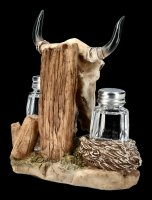 Salt and Pepper Shaker - Western Bull Skull