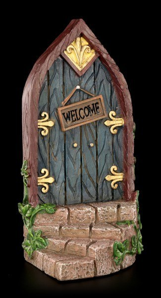 Door Sign - Wood Gate with rounded Stair