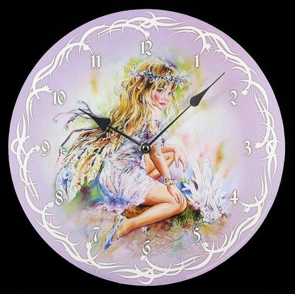 Elfen Wanduhr - Crystal Keeper