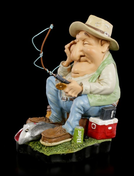 Funny Sports Figurine - Angler with broken Snell