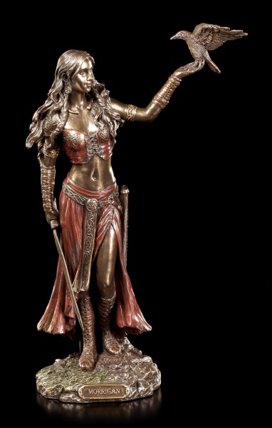 Morrigan Figurine - Celtic Goddess with Raven