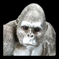 Monkey Figurine - Gorilla Antique Silver