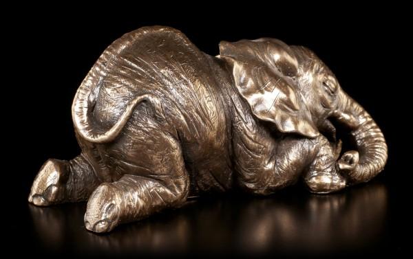 Kleine Elefanten Figur - Liegend