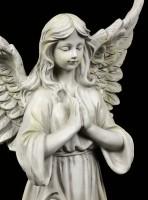 Engel Gartenfigur - Betend mit geschlossenen Augen