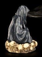 Reaper Figur Räucherkegelhalter - Thront auf Schädelberg