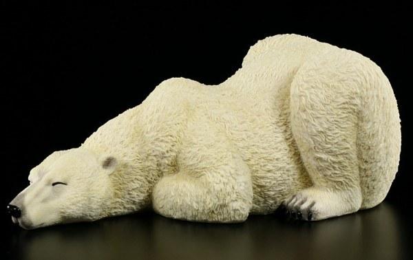 Eisbär Figur - Schlafender Eisbär